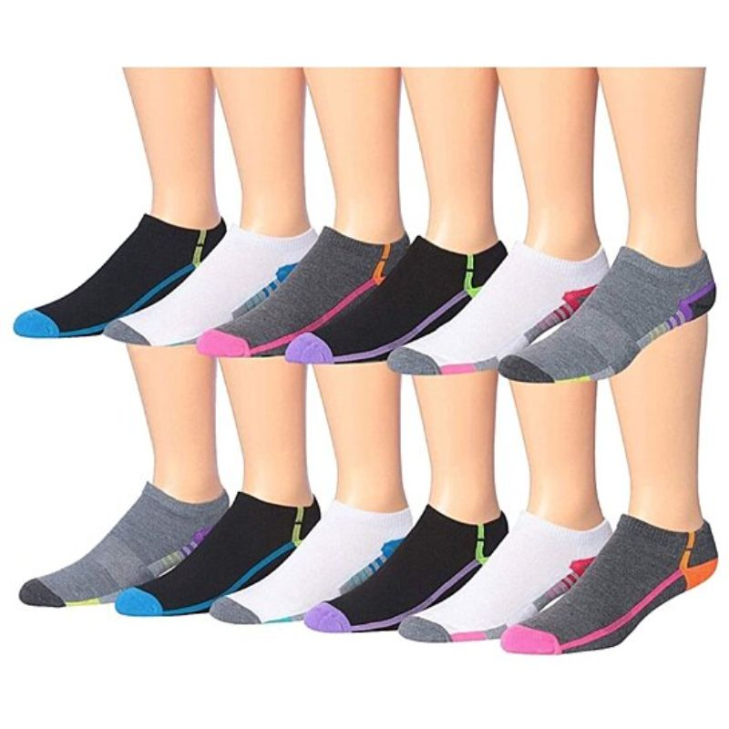 Men's James Fiallo Performance Low Cut Athletic Sport Socks - 24 Pairs