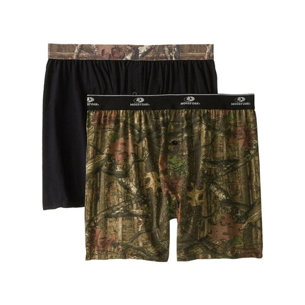 Men's Mossy Oak Moisture Wicking Boxer Shorts - 2 Pack-Small-Daily Steals