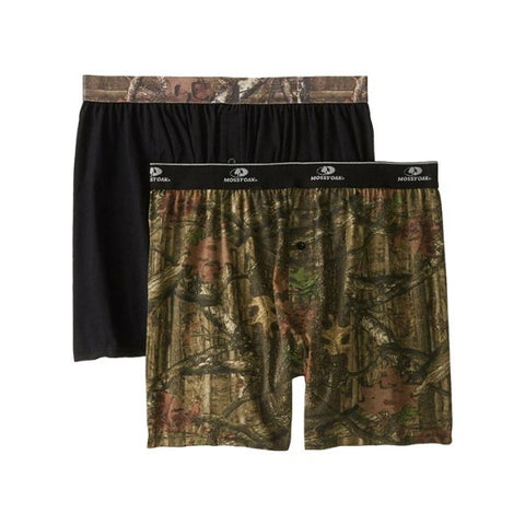 Daily Steals-Men's Mossy Oak Moisture Wicking Boxer Shorts - 2 Pack-Men's Apparel-Small-