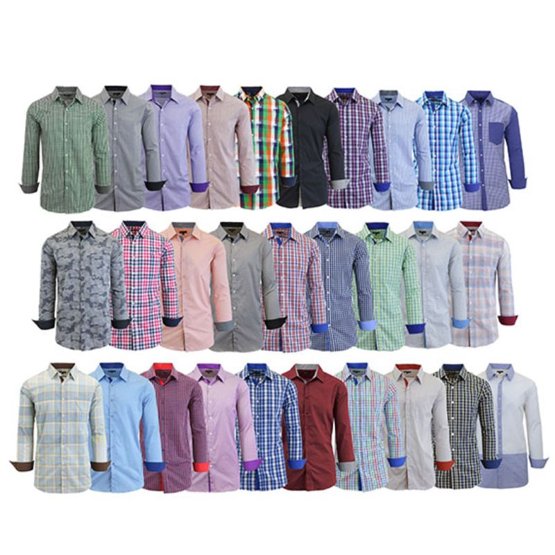 Men's Mystery Dress Shirt - Short or Long-Sleeve Options-S-Long Sleeve-Daily Steals