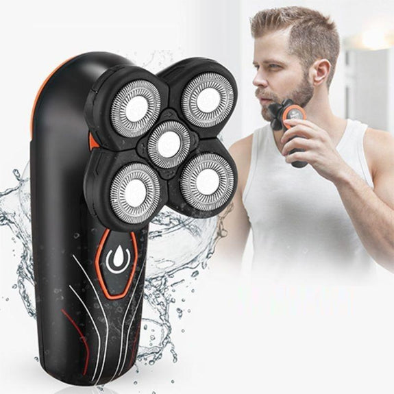 Men's 4D Rechargeable Wet & Dry Electric Rotary Shaver