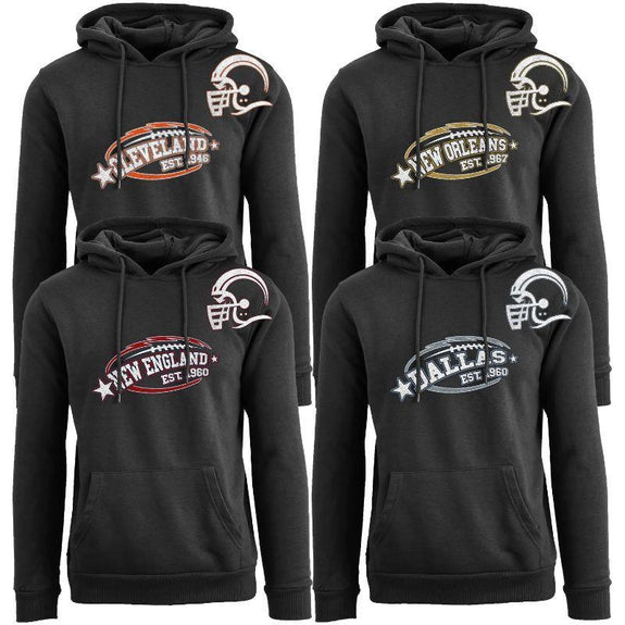 Men's All-Star Football Pull Over Hoodie-Daily Steals