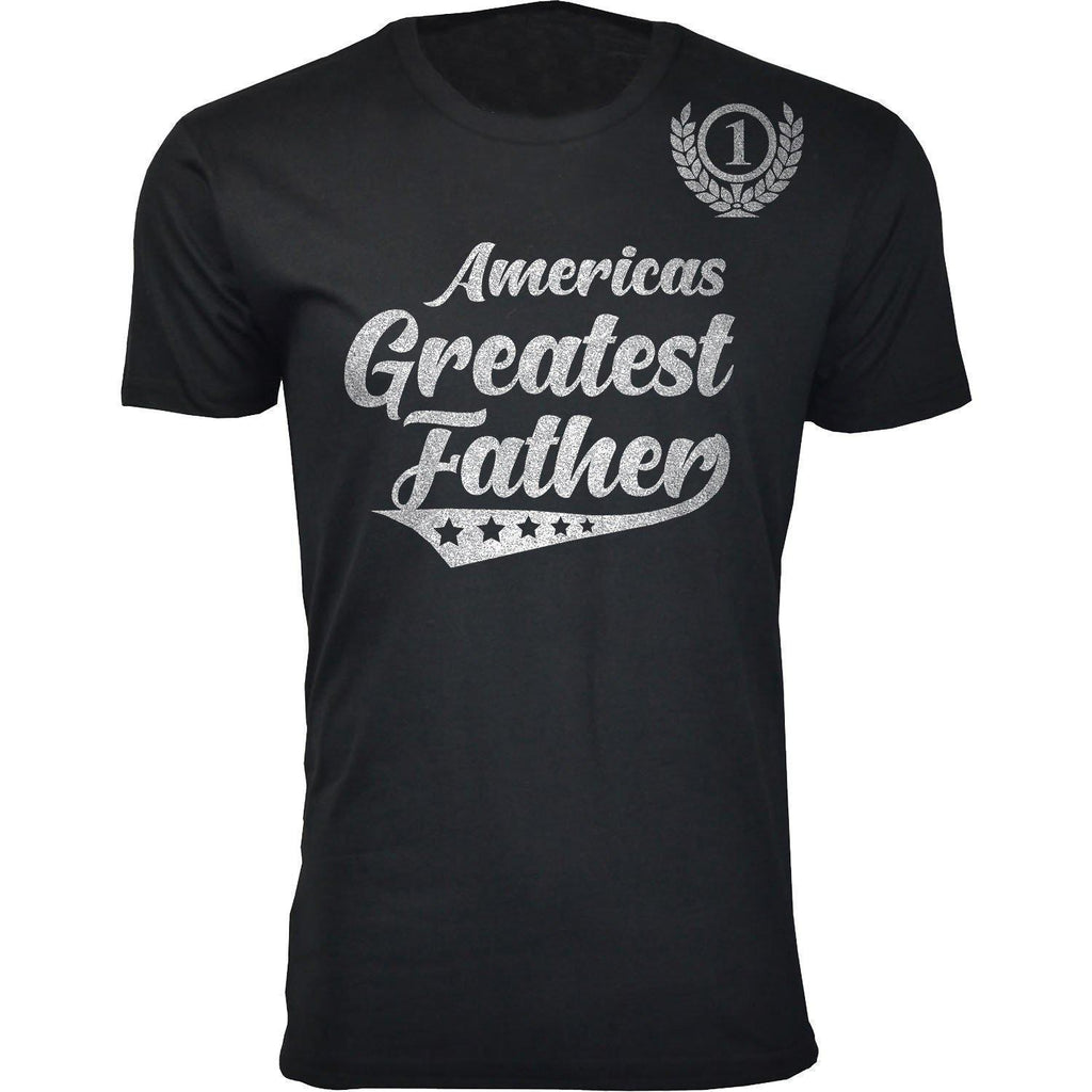 Daily Steals-Men's Americas Greatest Father's Day T-shirts-Men's Apparel-Father - Black-S-
