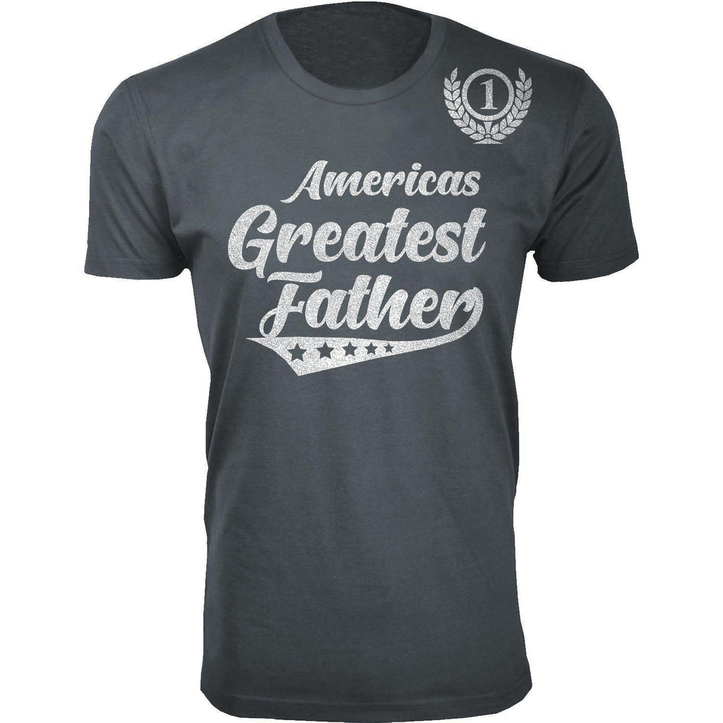 Daily Steals-Men's Americas Greatest Father's Day T-shirts-Men's Apparel-Father - Charcoal-S-