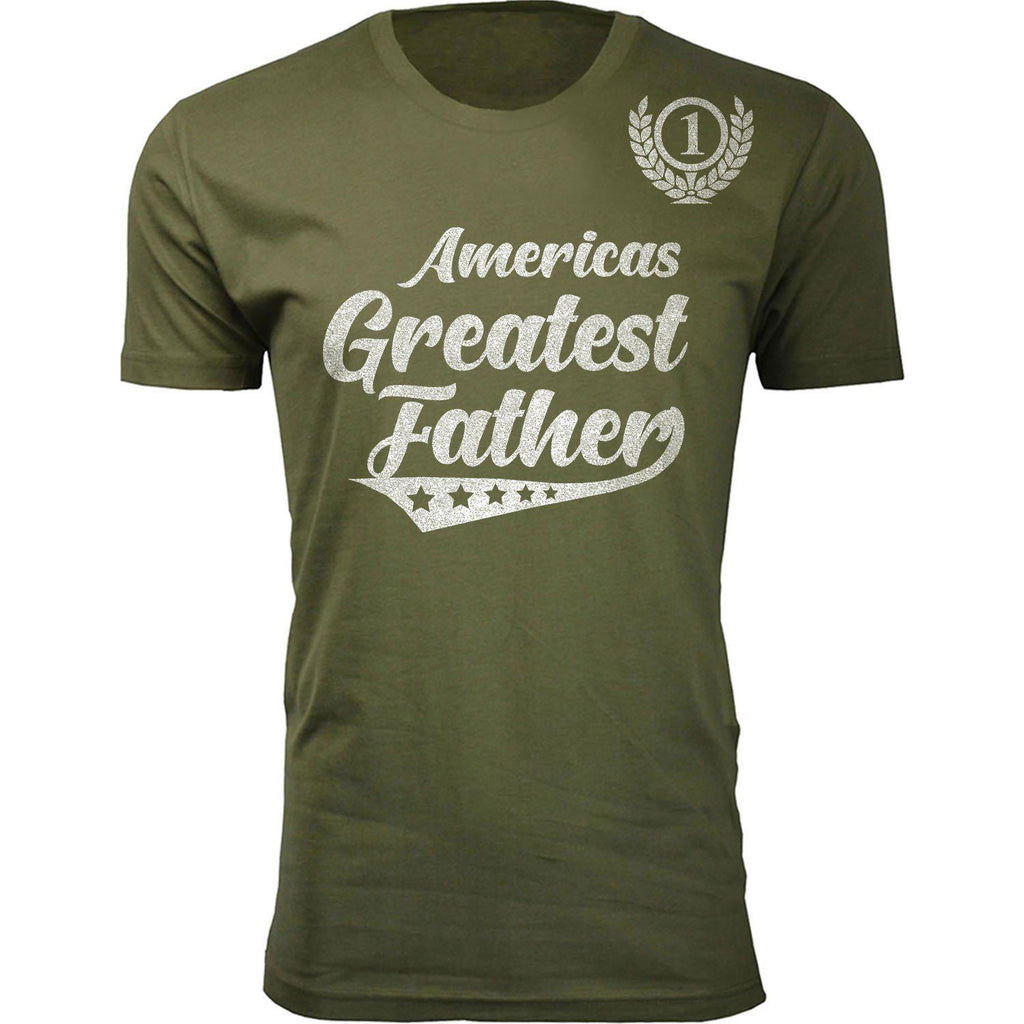 Daily Steals-Men's Americas Greatest Father's Day T-shirts-Men's Apparel-Father - Military Green-2XL-