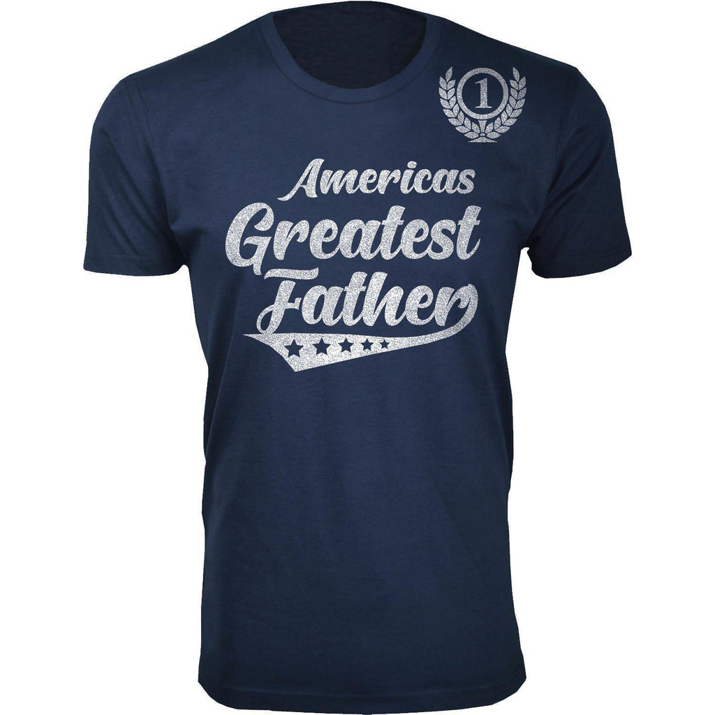 Daily Steals-Men's Americas Greatest Father's Day T-shirts-Men's Apparel-Father - Navy-L-