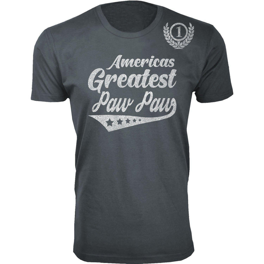 Daily Steals-Men's Americas Greatest Father's Day T-shirts-Men's Apparel-Paw Paw - Charcoal-S-
