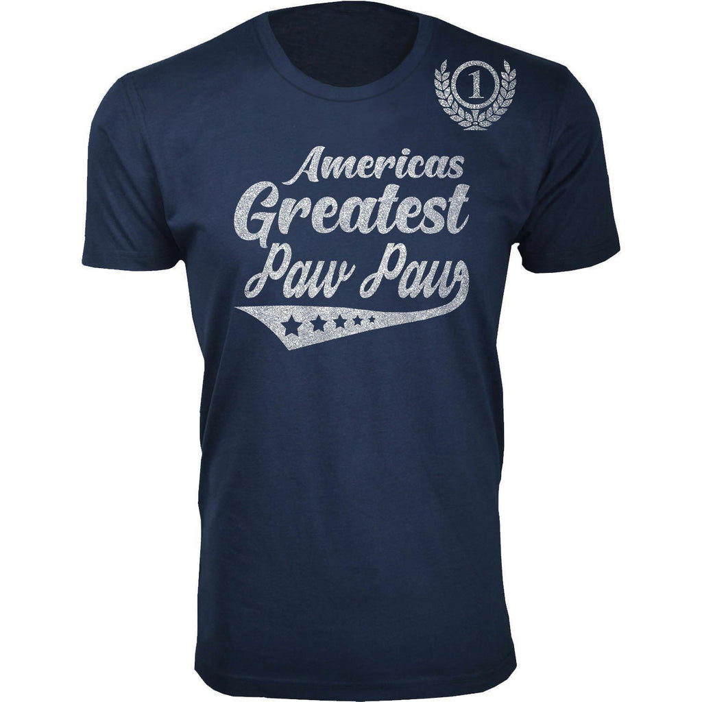 Daily Steals-Men's Americas Greatest Father's Day T-shirts-Men's Apparel-Paw Paw - Navy-S-