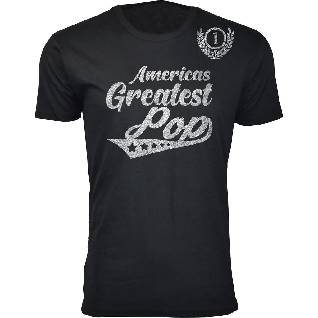 Daily Steals-Men's Americas Greatest Father's Day T-shirts-Men's Apparel-Pop - Black-S-