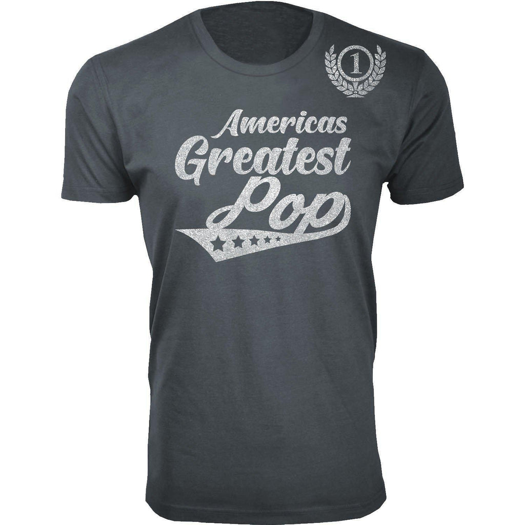 Daily Steals-Men's Americas Greatest Father's Day T-shirts-Men's Apparel-Pop - Charcoal-S-
