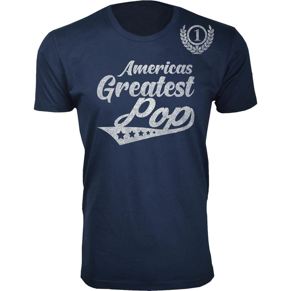Daily Steals-Men's Americas Greatest Father's Day T-shirts-Men's Apparel-Pop - Navy-M-