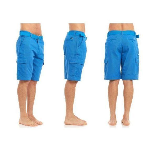 Daily Steals-Men's Belted Cargo Shorts-Men's Apparel-Blue-30-