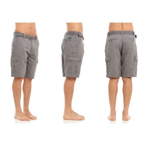 Daily Steals-Men's Belted Cargo Shorts-Men's Apparel-Grey-32-