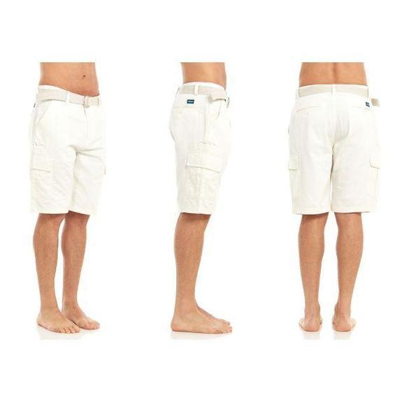 Daily Steals-Men's Belted Cargo Shorts-Men's Apparel-White-30-