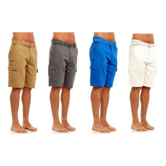 Daily Steals-Men's Belted Cargo Shorts-Men's Apparel-Khaki-30-