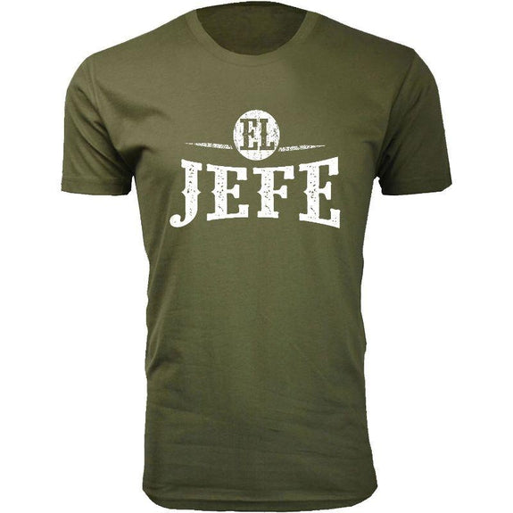 Men's Best and Funniest Father's Day T-Shirts Ever - Several Styles-Military Green-EL JEFE-L