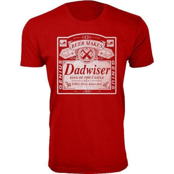 Men's Best Dad Ever, Best Baby Daddy and Dadwiser Fathers day T-Shirts-Red-Dadwiser-S