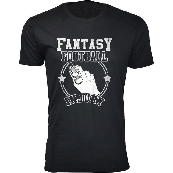 Men's Best Fantasy Football T-Shirts-Fantasy Football Injury - Black-S-Daily Steals