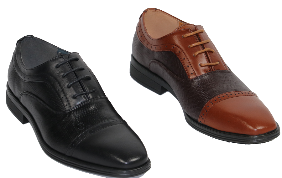 Daily Steals-Men's Brown and Black Dress Shoes with Leather Lining-Men's Apparel-Black-7.5-