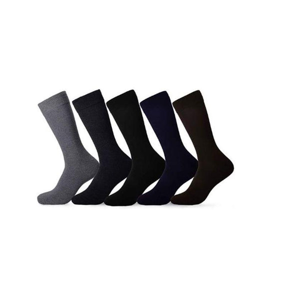 Men's Cotton Dress Socks - 10 Pack-Daily Steals