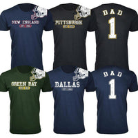Camisetas de casco de fútbol americano Dad # 1 Awesome para hombre-S-Baltimore-