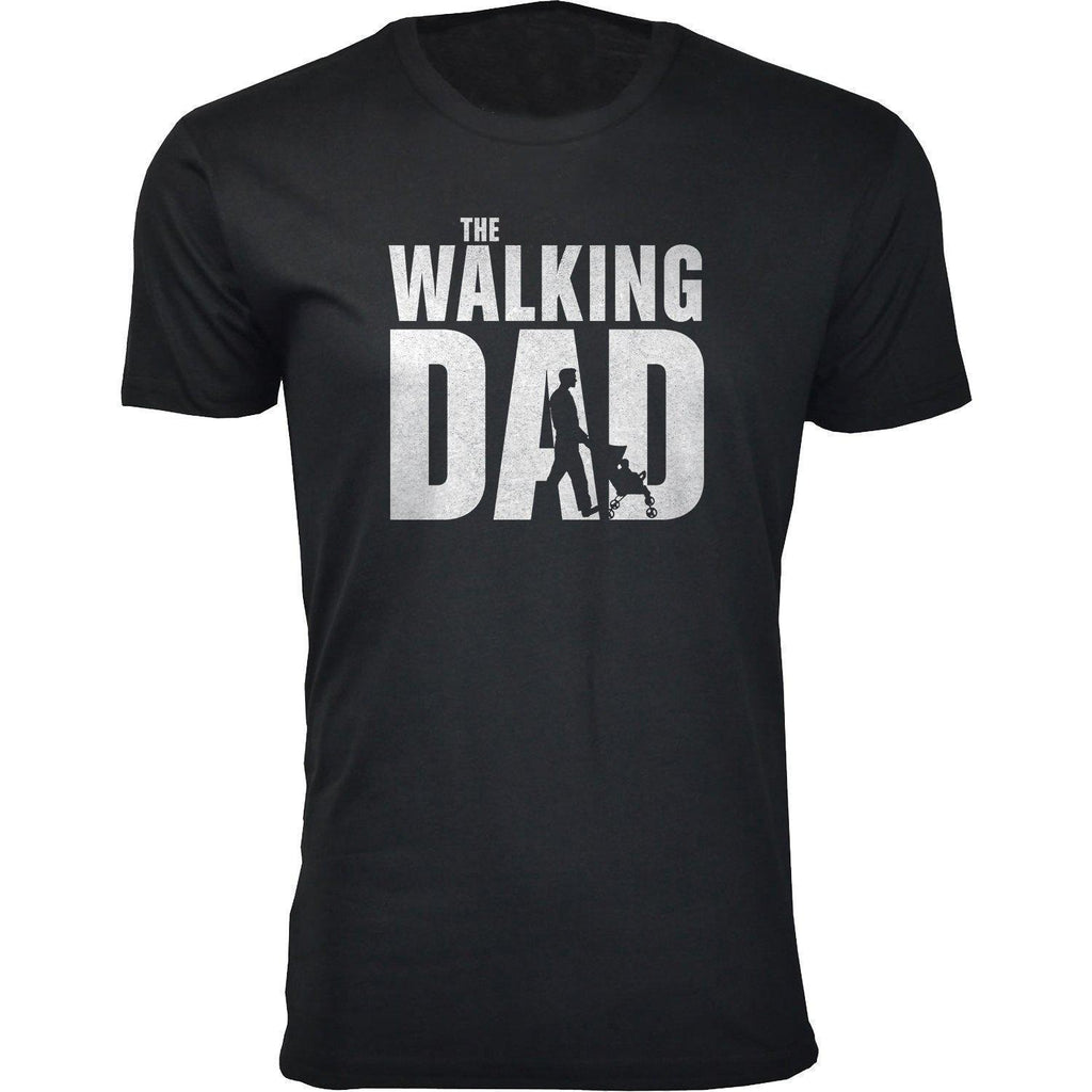Daily Steals-Men's Dad Themed T-shirts-Men's Apparel-2X-Large-The Walking Dad - Black-