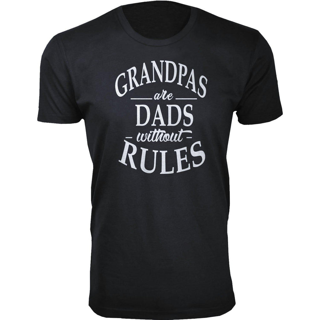 Daily Steals-Men's Dad Themed T-shirts-Men's Apparel-Medium-Grandpas are Dads without Rules - Black-