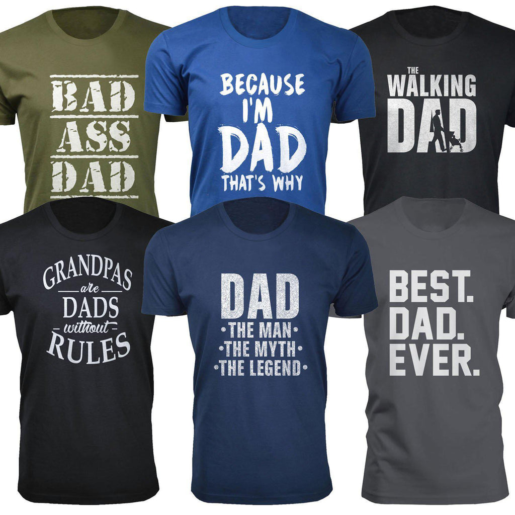 Daily Steals-Men's Dad Themed T-shirts-Men's Apparel-Small-Best. Dad. Ever. - Black-