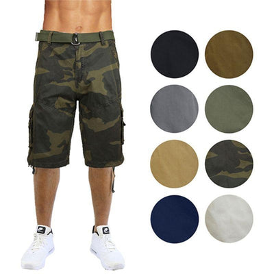 M/&S/&W Mens Cargo Shorts Multi-Pocket Camouflage Style Outdoor Casual Shorts