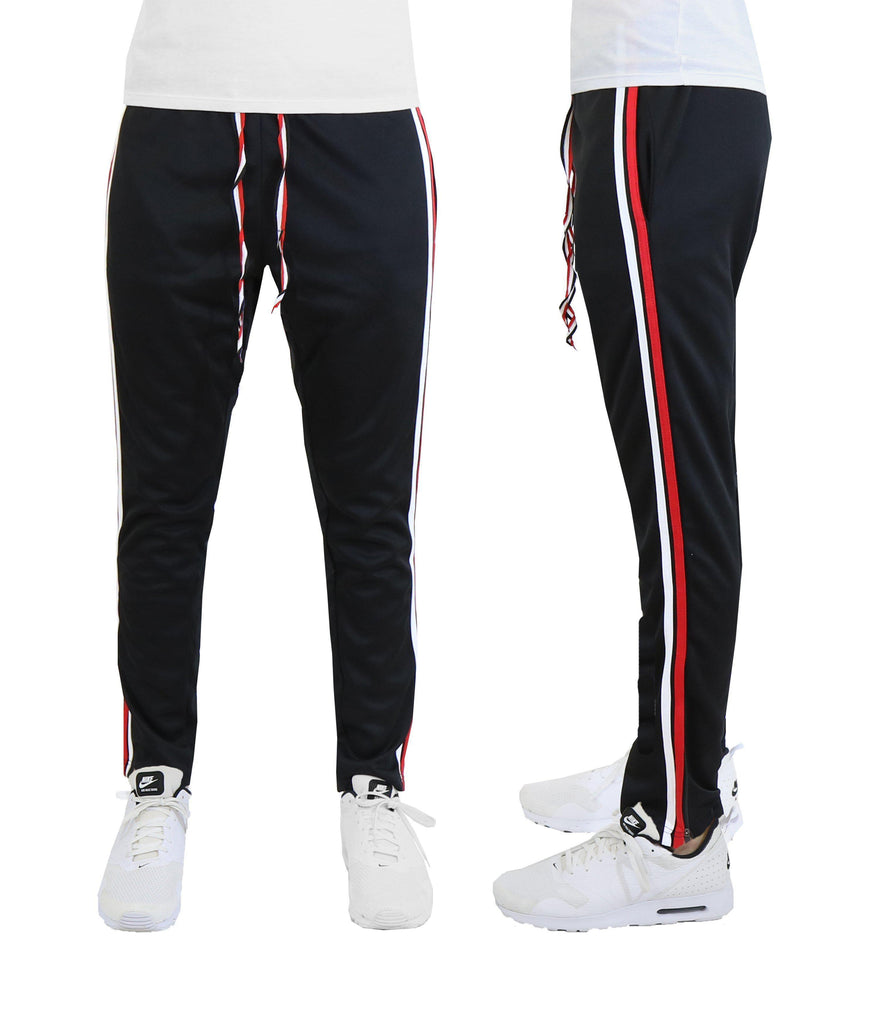 Daily Steals-Men's Double Color Track Pants-Men's Apparel-Black-S-