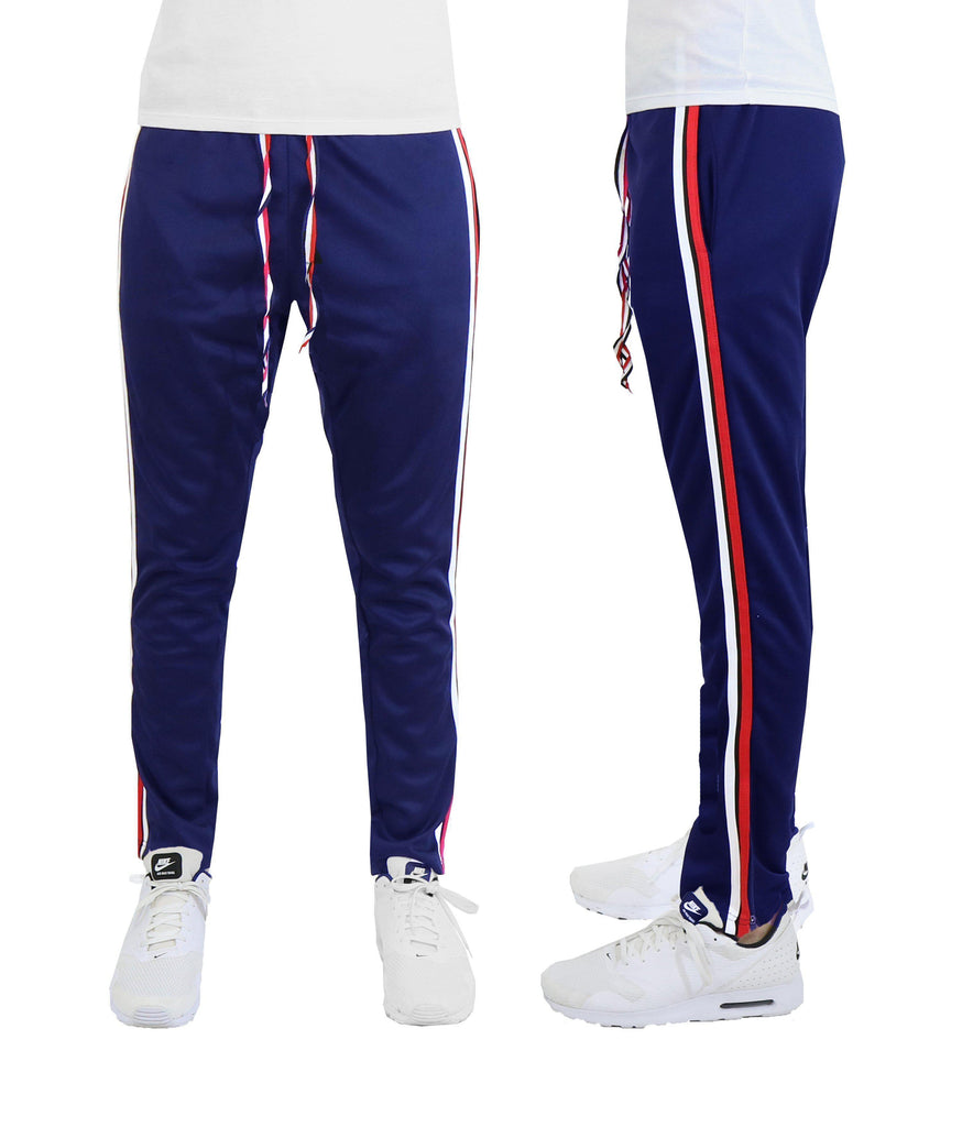 Daily Steals-Men's Double Color Track Pants-Men's Apparel-Navy-S-