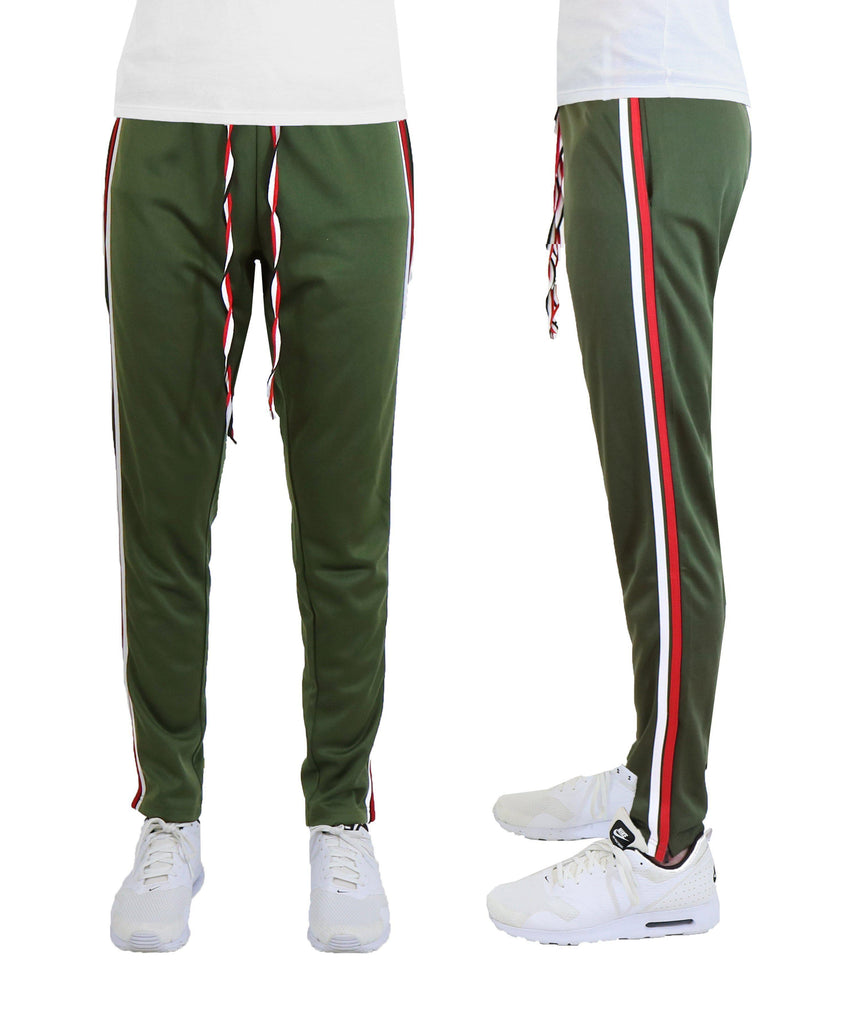 Daily Steals-Men's Double Color Track Pants-Men's Apparel-Olive-S-