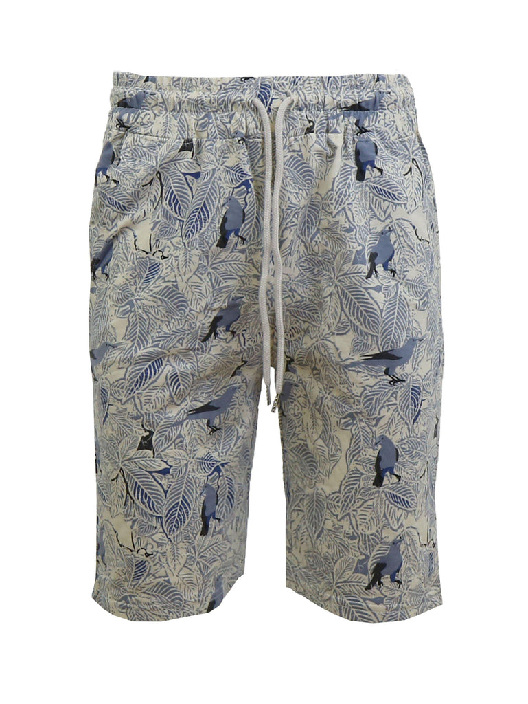 Daily Steals-Men's Fashion Printed French Terry Shorts-Men's Apparel-Blue Bird-Small-