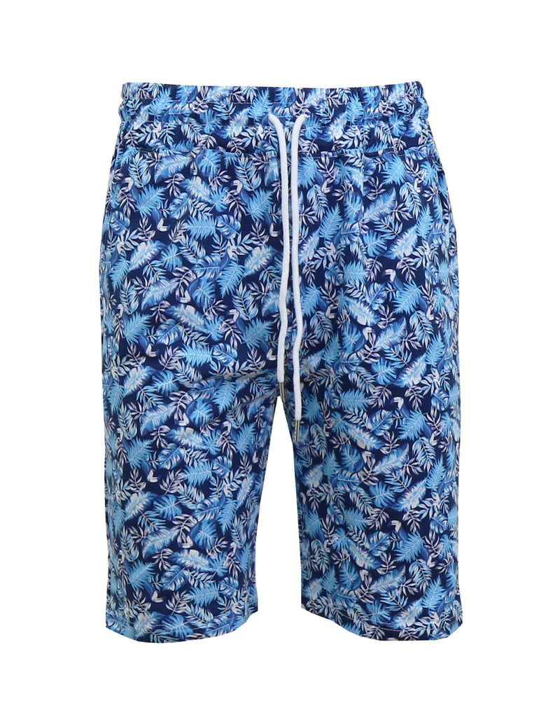 Daily Steals-Men's Fashion Printed French Terry Shorts-Men's Apparel-Light Blue/Navy-Small-