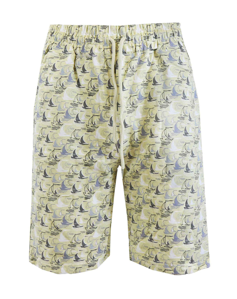 Daily Steals-Men's Fashion Printed French Terry Shorts-Men's Apparel-Sail Boat-Small-