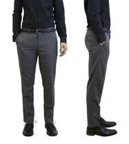 Daily Steals-Men's Flat Front Slim Fit Belted Dress Pants-Men's Apparel-Grey-30x30-