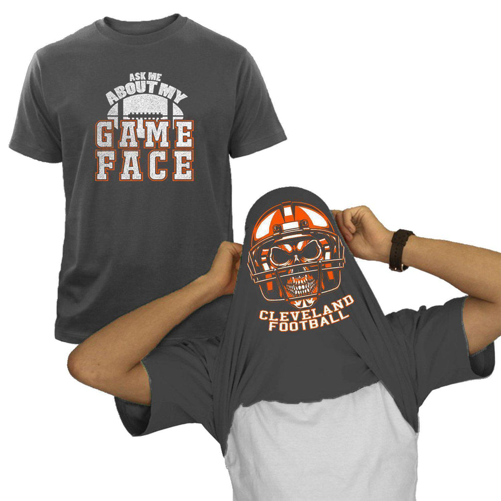 Cleveland - Charcoal NFL Game Face T-Shirt
