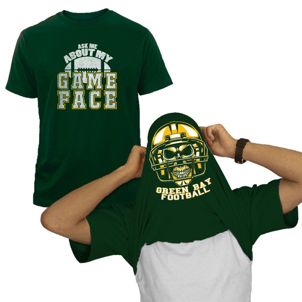 Greenbay - Forest Green NFL Game Face T-Shirt