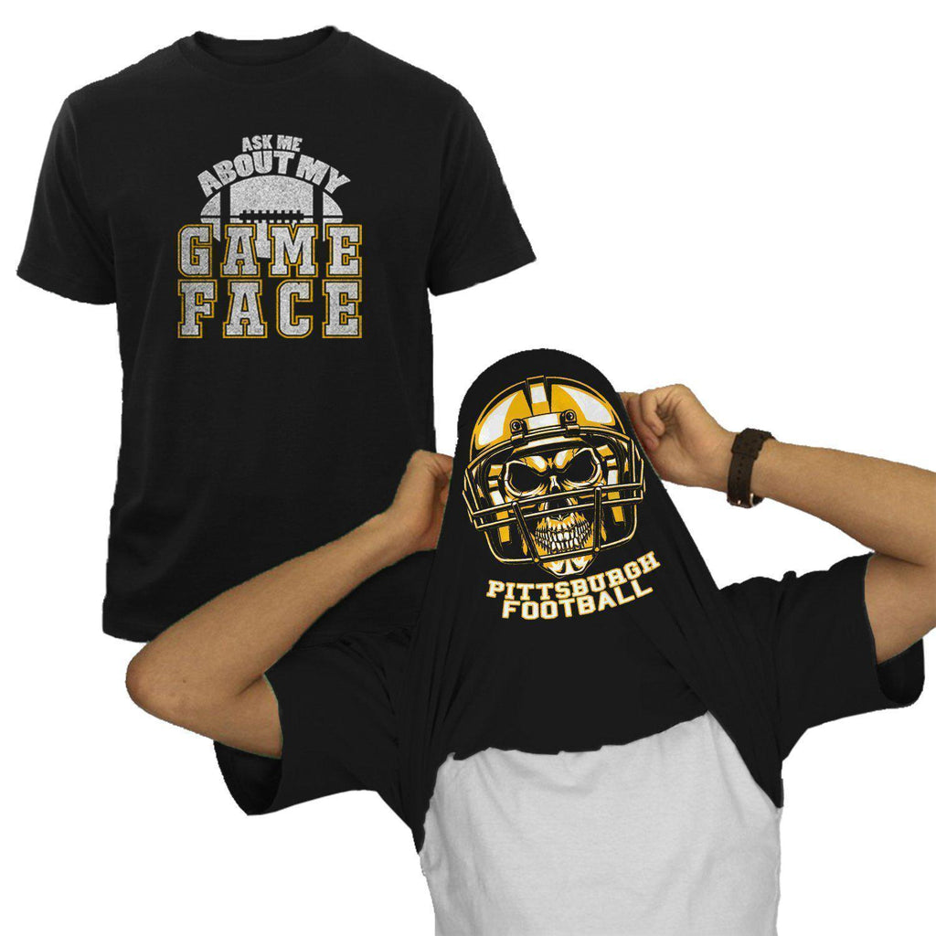 Pittsburgh - Black NFL Game Face T-Shirt