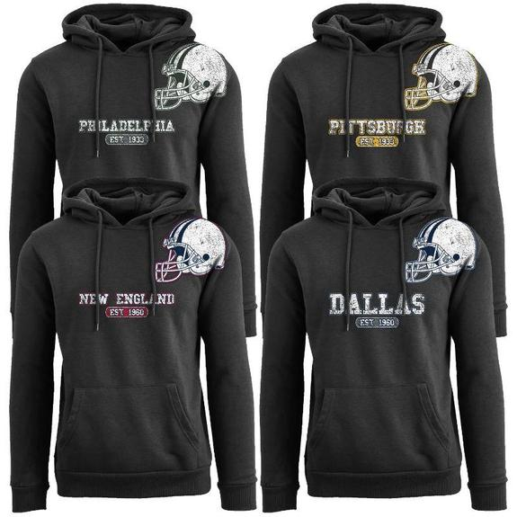 Daily Steals-Men's Football Helmet Pull Over Hoodie-Men's Apparel-2XL-Baltimore - Black-