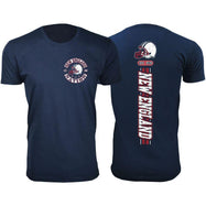 Men's Football Stripes T-Shirts-L-New England-