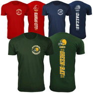 Men's Football Stripes T-Shirts-S-San Francisco-