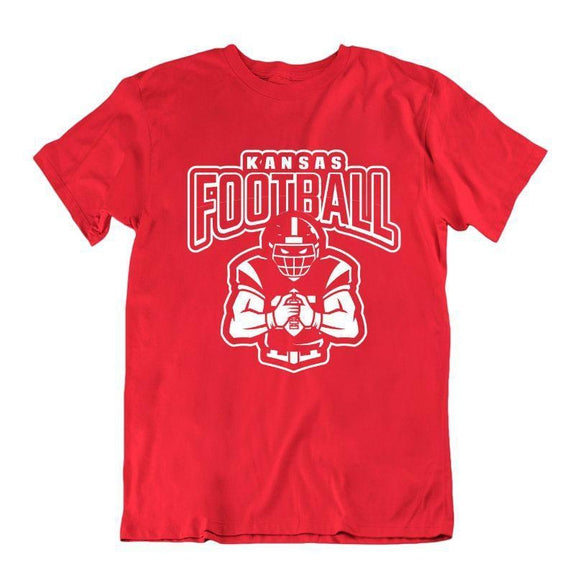 Men's Football Team T-Shirts - Sizes XL/2XL-Kansas-XL-Daily Steals