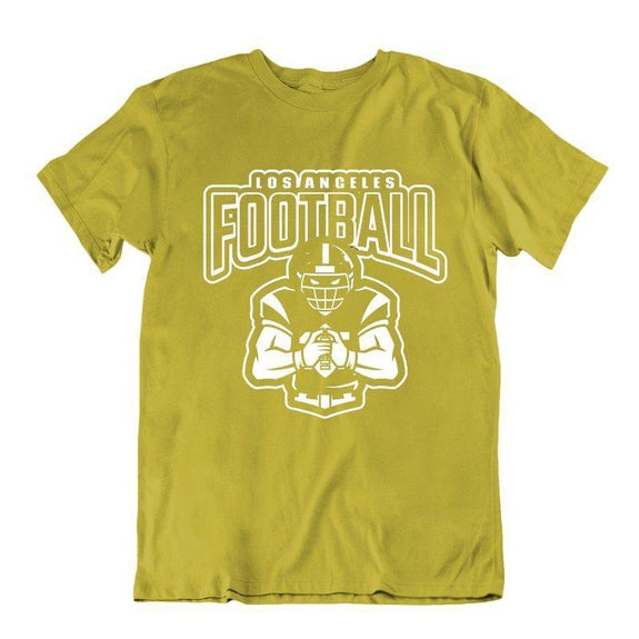 Men's Football Team T-Shirts - Sizes XL/2XL-Los Angeles - Gold-XL-Daily Steals
