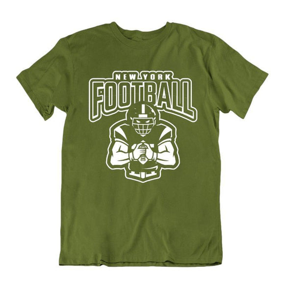Men's Football Team T-Shirts - Sizes XL/2XL-New York - Military Green-XL-Daily Steals