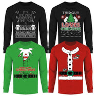 Men's Funny Ugly Christmas Sweater Long Sleeve Shirts-Daily Steals