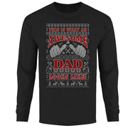 Men's Funny Ugly Christmas Sweater Long Sleeve Shirts-Awesome Dad Looks Like - Black-2XL-Daily Steals