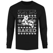 Men's Funny Ugly Christmas Sweater Long Sleeve Shirts-Baked - Black-S-Daily Steals