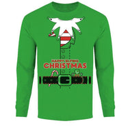 Men's Funny Ugly Christmas Sweater Long Sleeve Shirts-Elf Suit - Kelly Green-S-Daily Steals