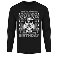 Men's Funny Ugly Christmas Sweater Long Sleeve Shirts-Party Like It's My Birthday - Black-S-Daily Steals